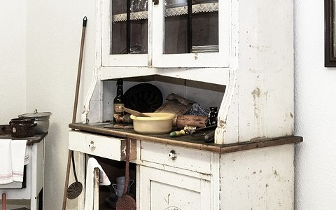 Kitchen Cabinet Old Historically Nostalgic
